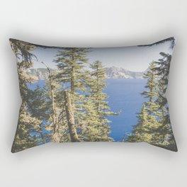 Cabin at the Lake Rectangular Pillow