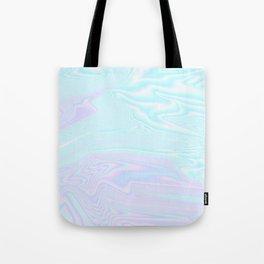Blue Purple Holographic Tote Bag