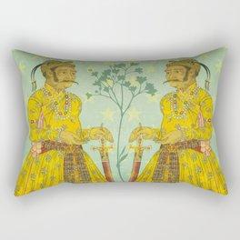 Mirrored Mughals Rectangular Pillow