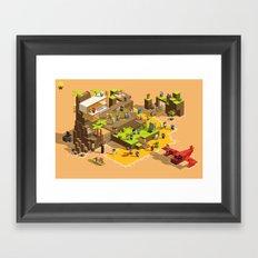 PIXEL ISLAND VOL.2 Framed Art Print