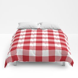 Buffalo Plaid - Red & White Comforters