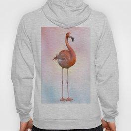 digital painting of Pink flamingo Hoody