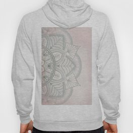 Blush Pink and Mint Mandala Hoody