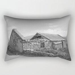 Top Down Beauty Mayo bw Rectangular Pillow