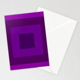 Purple Squares Stationery Cards