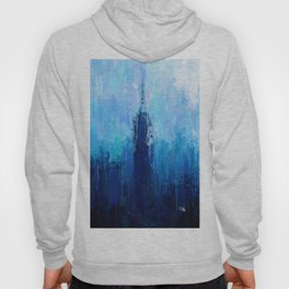 Empire State Building - New York City - Cityscape Wall Art, Poster, Impressionism Paintings, Prints Hoody
