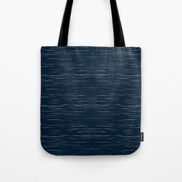 Meteor Stripes - Dark Denim Tote Bag
