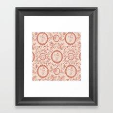 Toile de Jouy (persephone) Framed Art Print