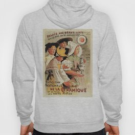 French belle epoque pottery expo advertising Hoody