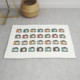 Colourful Camera Icons Rug
