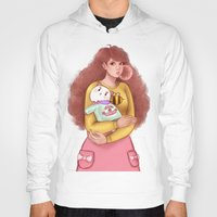 bee and puppycat Hoodies featuring Bee and Puppycat by MW Illustration