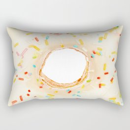 Overfill white chocolate doughnut Rectangular Pillow