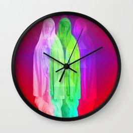 Glitch Goddess Wall Clock