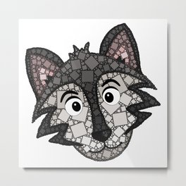 Howl You Doin'? - Cute Wolf - Puppy - 57 Montgomery Ave Metal Print