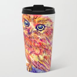 Caffeinated Owl Metal Travel Mug