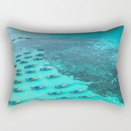 Thai Blue Boats Rectangular Pillow
