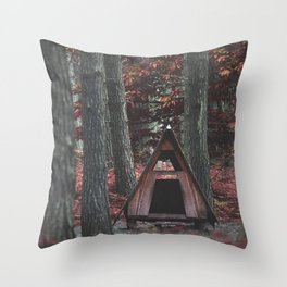 Forest Hut - Nature Photography Throw Pillow