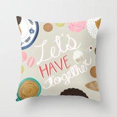 Let's Have Tea Art Print Throw Pillow