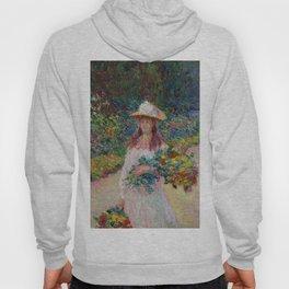 "Claude Monet ""Jeune fille dans le jardin de Giverny"" Hoody"