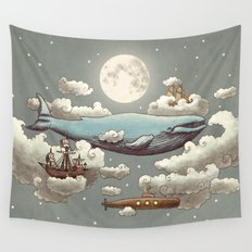 Ocean Meets Sky (original) Wall Tapestry