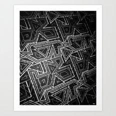 arcade (monochrome series) Art Print