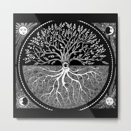 Druid Tree of Life Metal Print