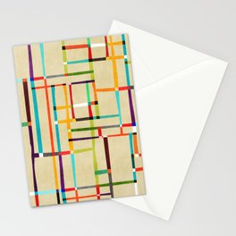 The map (after Mondrian) Stationery Cards