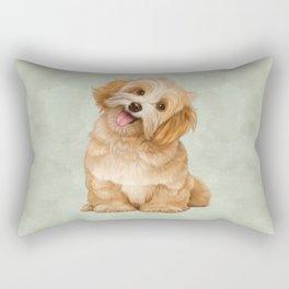 Smiling Dog (Havanese) Rectangular Pillow
