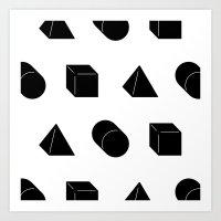 Shapes Pattern Art Print