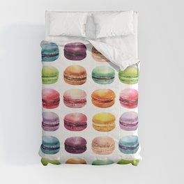Macaroons in pop color. Delicious French Desserts. Comforters