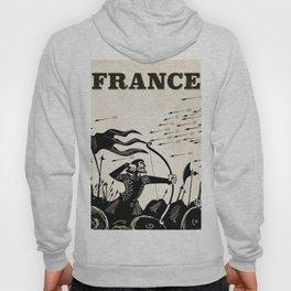 France vintage travel poster Hoody