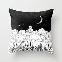Moon River Throw Pillow