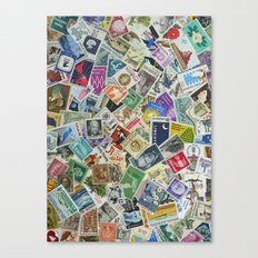 Vintage Postage Stamp Collection - 01 Canvas Print