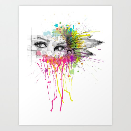 Beautiful Flower Eyes Art Print
