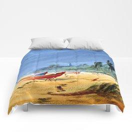 Puerto Rico Beach Comforters