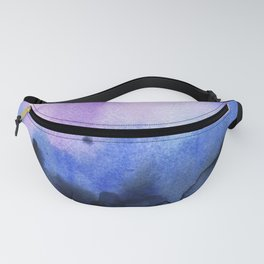 Abstract Mountains Purple Watercolor Fanny Pack