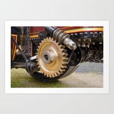 Steering links Art Print
