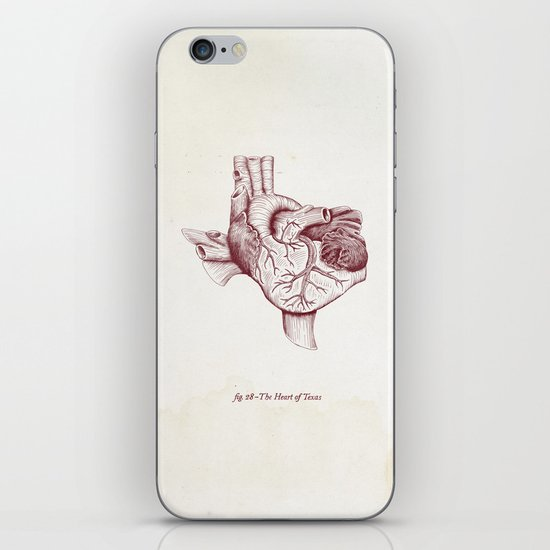The Heart of Texas (A&M) iPhone & iPod Skin