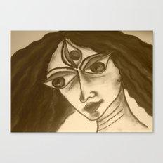 Durga in charcoal: 2 Canvas Print