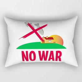 No war Rectangular Pillow