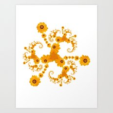 Fractal Flower Art Print
