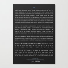 Carl Sagan - Pale Blue Dot Poster Canvas Print