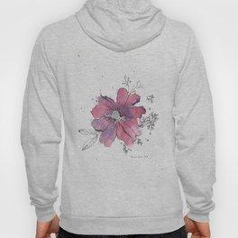 flor morada Hoody