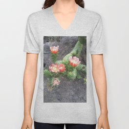 A cactus in its bloom Unisex V-Neck
