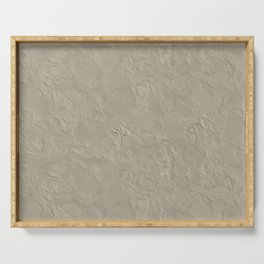 Beige Rough Plastering Texture Serving Tray