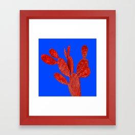 Minimal cactus Framed Art Print