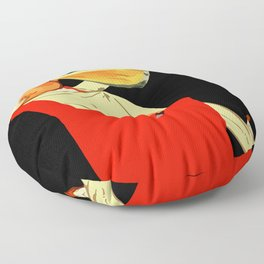 Retro French beer ad Le Bon Bock Floor Pillow