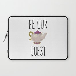 Be our Guest Hand painted teapot hand print Laptop Sleeve