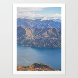 Roys Peak Lookout 1 Art Print