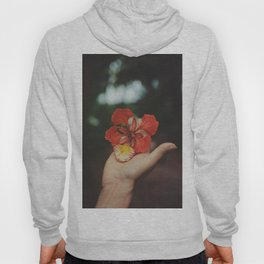 RED - FLOWER - HAND - PHOTOGRAPHY Hoody